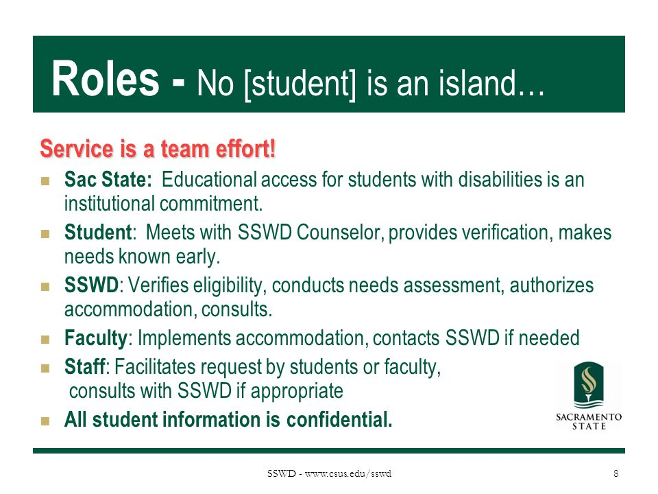 Roles - No [student] is an island…